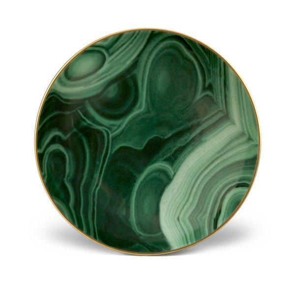 Small Malachite and Gold Dish