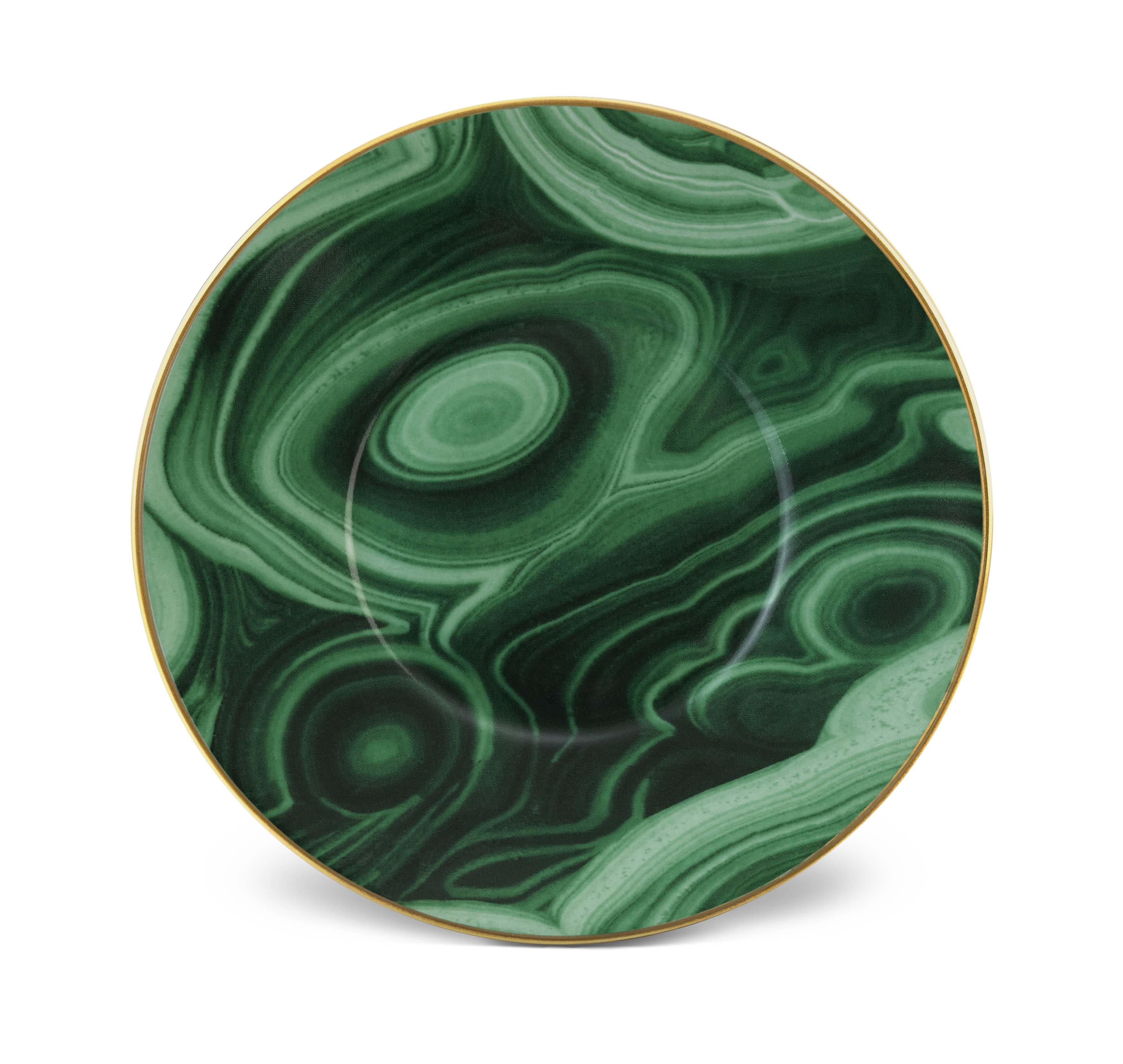 Malachite and Gold Saucer