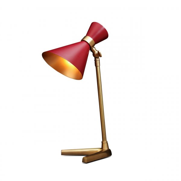 Peggy Red Bedside Lamp