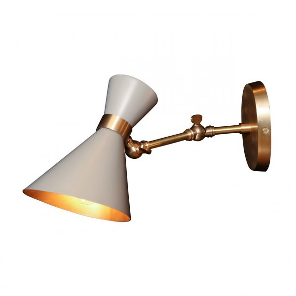 Peggy Grey Adjustable Wall Lamp