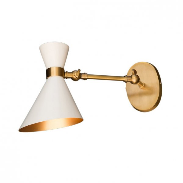 Peggy White Adjustable Wall Lamp