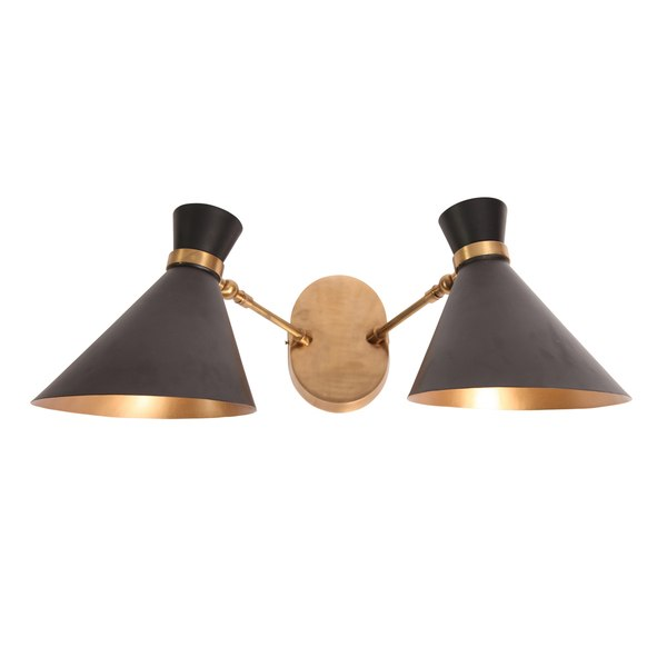 Black Peggy Twin Wall Lamp