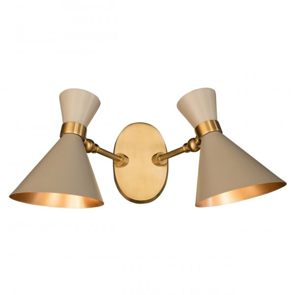 Grey Peggy Twin Wall Lamp