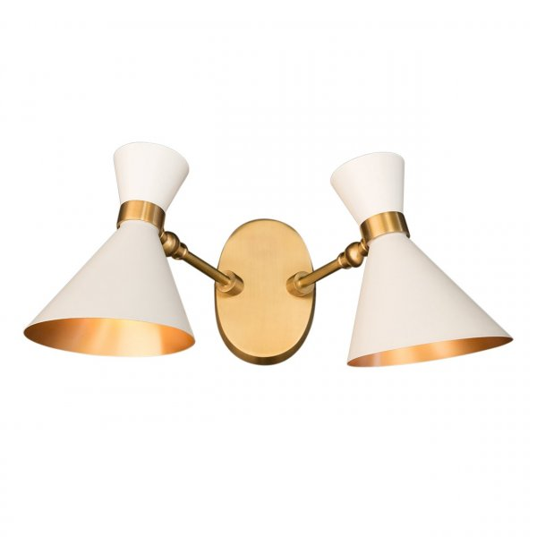 Velona's Jungle White Peggy Twin Wall Lamp