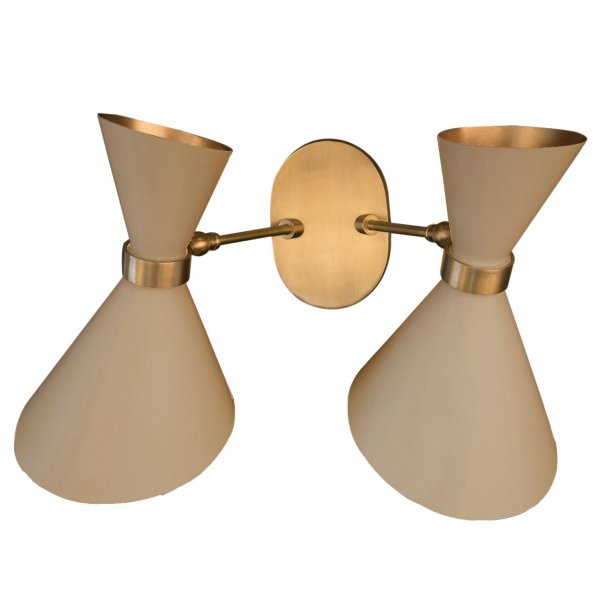 Velona's Jungle Peggy Beige Twin Up & Down Wall Lamp