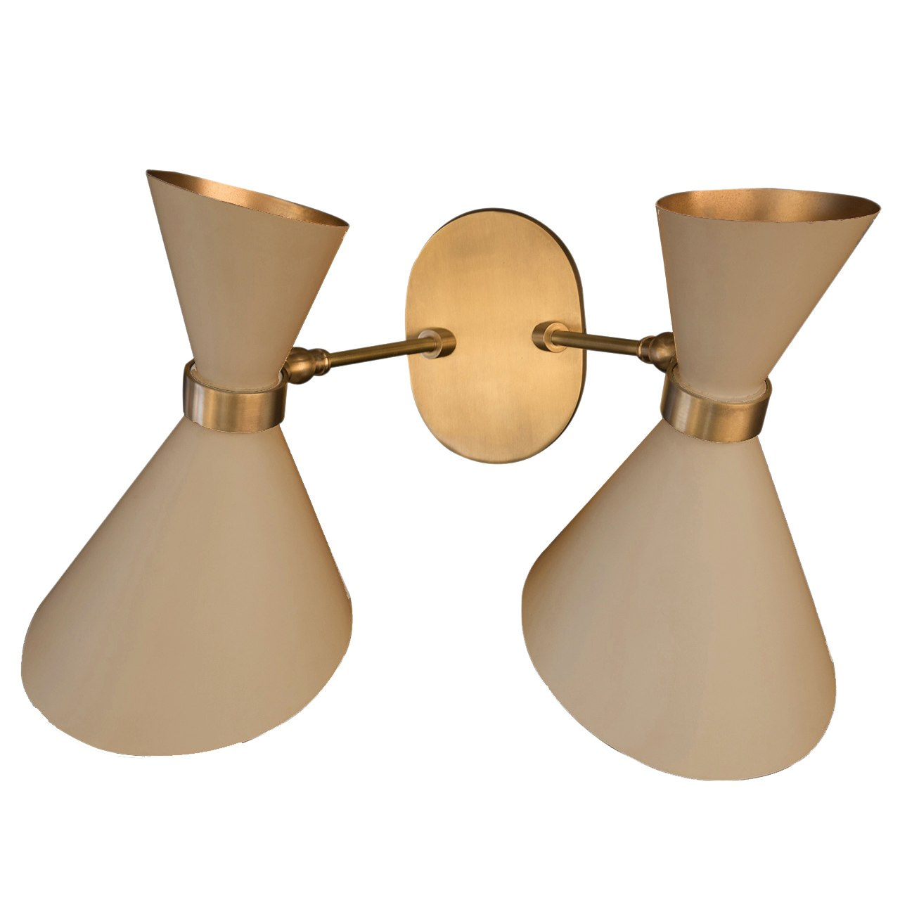 Peggy Black Twin Up & Down Wall Lamp