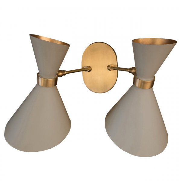 Peggy Grey Twin Up & Down Wall Lamp