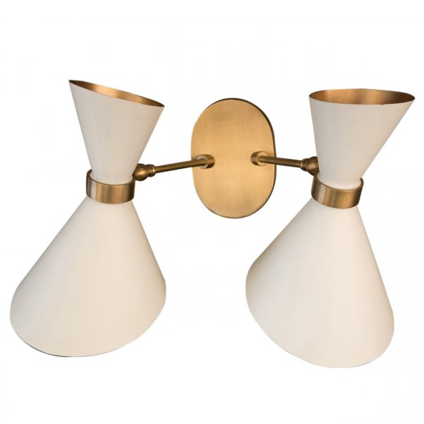 Peggy White Twin Up & Down Wall Lamp