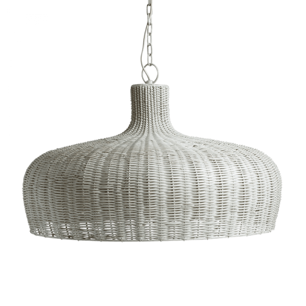 Rattan Pendant Light Shade in Grey