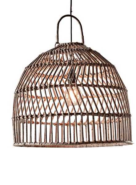 Round Pendant Rattan Light Shade