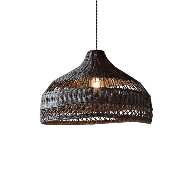 Woven Rattan Light Shade in Grey