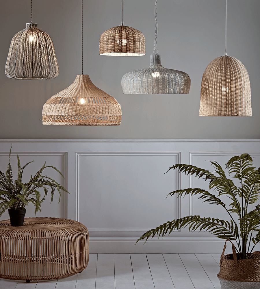 Rattan Dome Pendant Light Shade