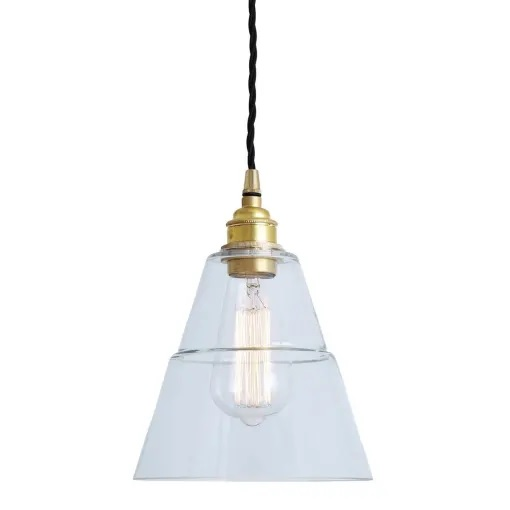 Lyx Clear Glass Pendant Light-Gold