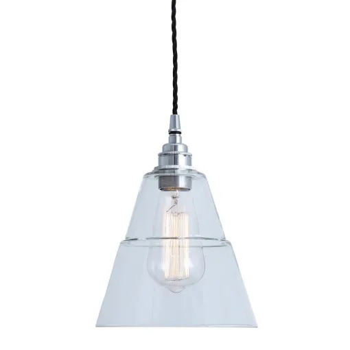 Lyx Clear Glass Pendant Light-Silver