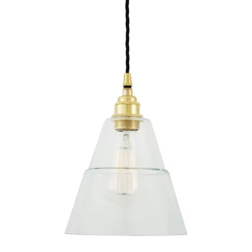 Lyx Clear Glass Pendant Light-Yellow