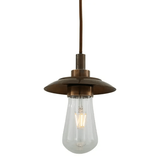 Ren Pendant Light IP65- Antique Brass