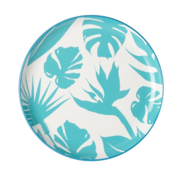 Large Paradise Silhouette Blue Plate, Set of 4