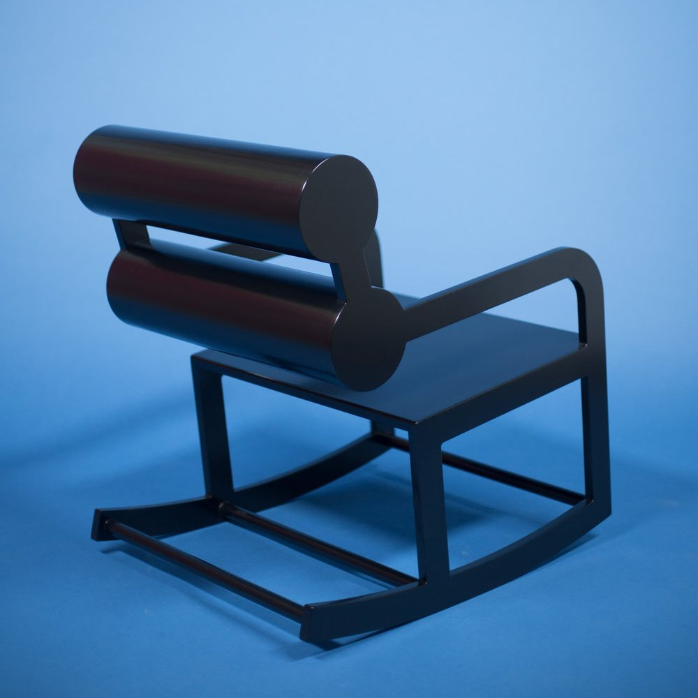 Black Double Cylinder Rocker