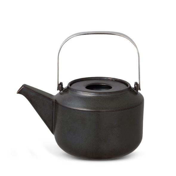 Black Kinto Leaves To Tea Teapot