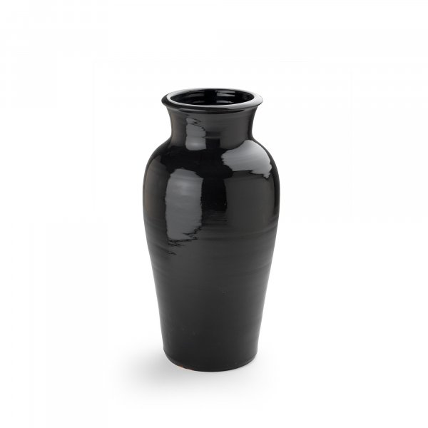 Delos Black Pottery Vase