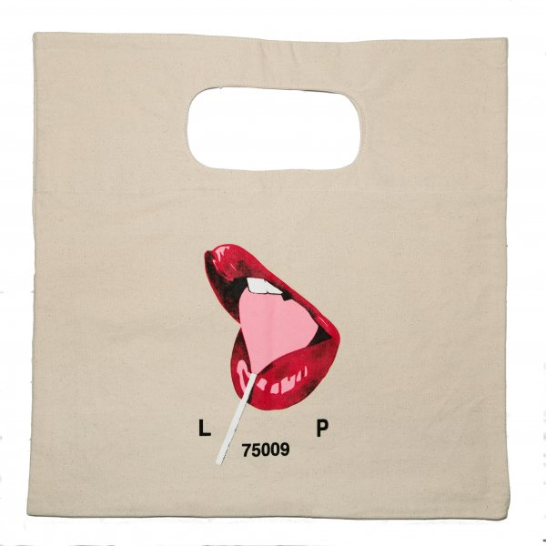 White Cotton Graphic Tote Bag, Jean André x Le Pigalle
