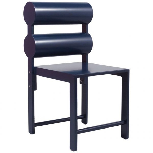 Indigo Blue Double Cylinder Chair