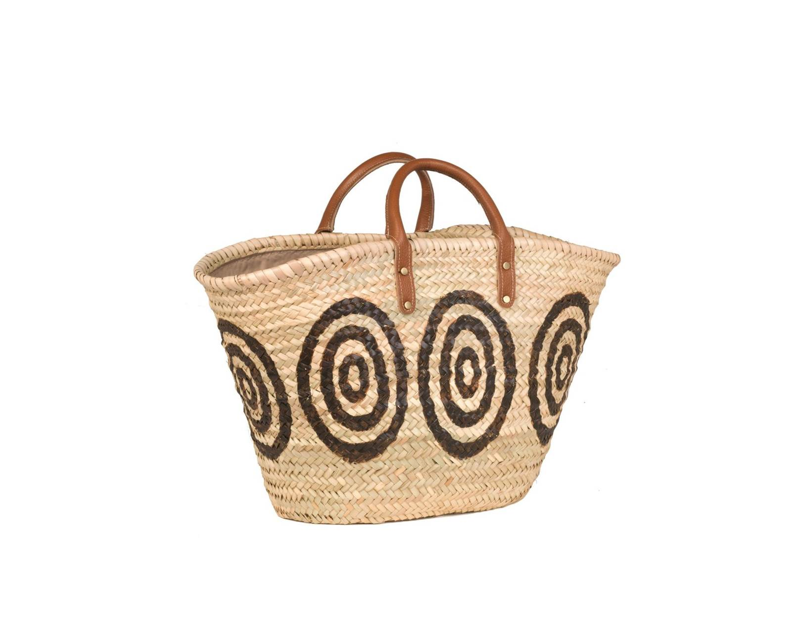 Kyklos Brown Basket with Leather Handles