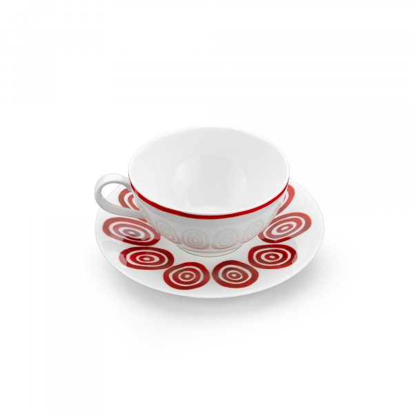 Kyklos Burgundy on White Tea or Coffee Cup