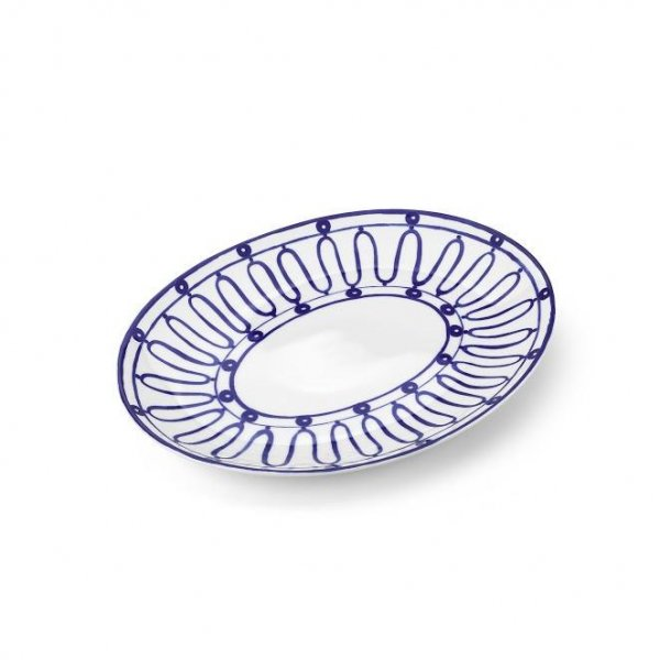 Kyma Blue on White Serving Platter