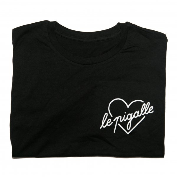 Black Cotton Graphic T-shirt, Le Pigalle