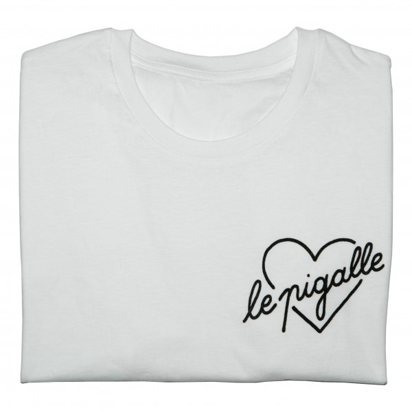 White Cotton Graphic T-shirt, Le Pigalle