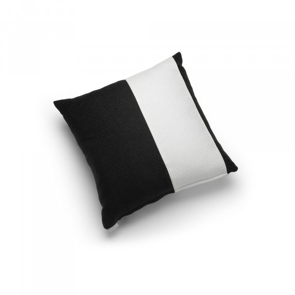 Linen Black and White Single Pillar Cushion