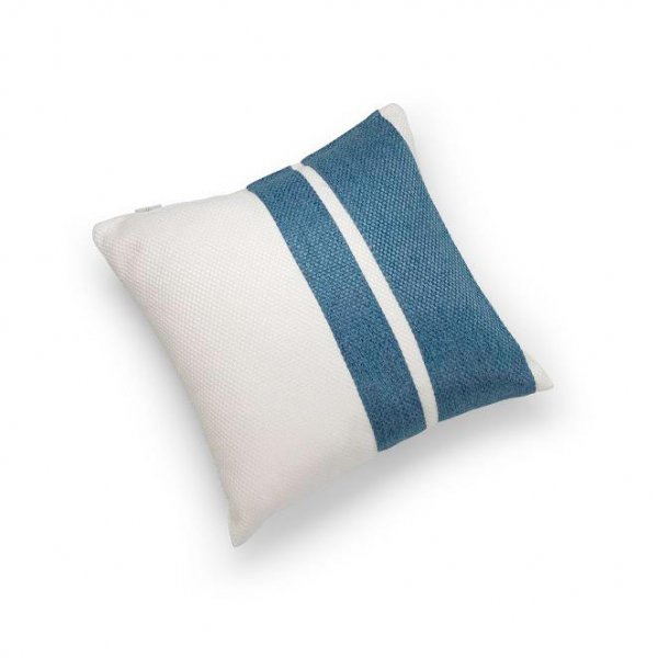 Linen Blue Double Pillar Cushion