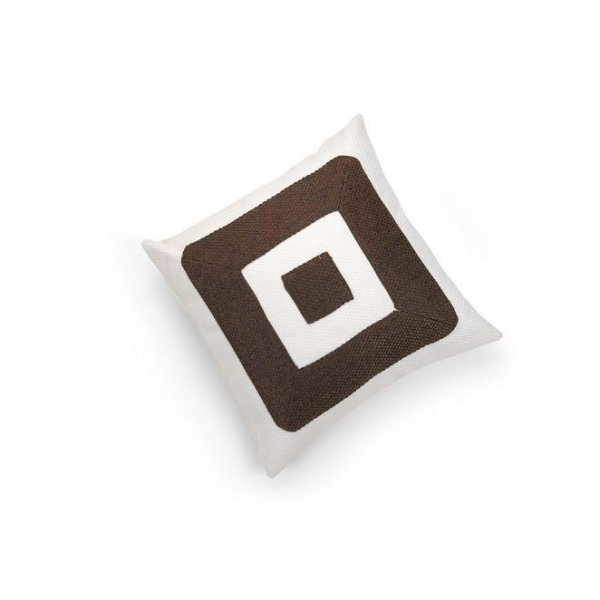 Linen Chocolate Brown Infinity Cushion