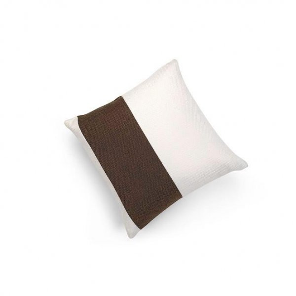 Linen Chocolate Brown Single Pillar Cushion