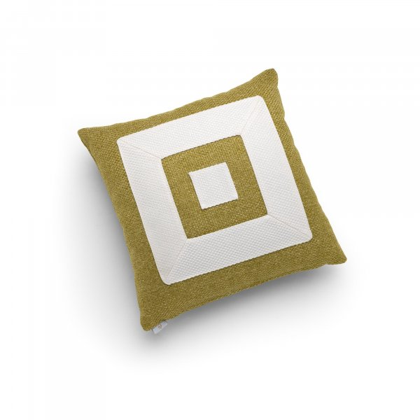 Linen Green and White Infinity Cushion