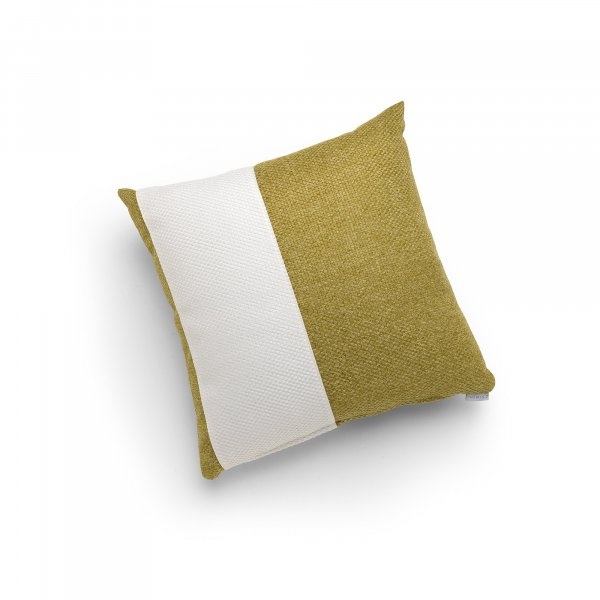 Linen Green and White Single Pillar Cushion