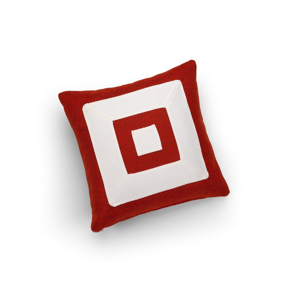 Linen Red and White Infinity Cushion