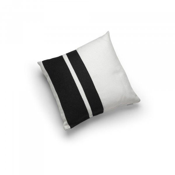 Linen Black and White Double Pillar Cushion