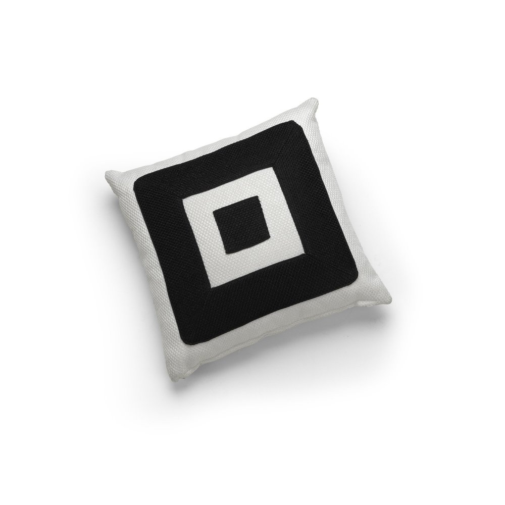 Linen White and Black Infinity Cushion