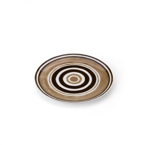 Maze Chocolate Brown Dessert Plate