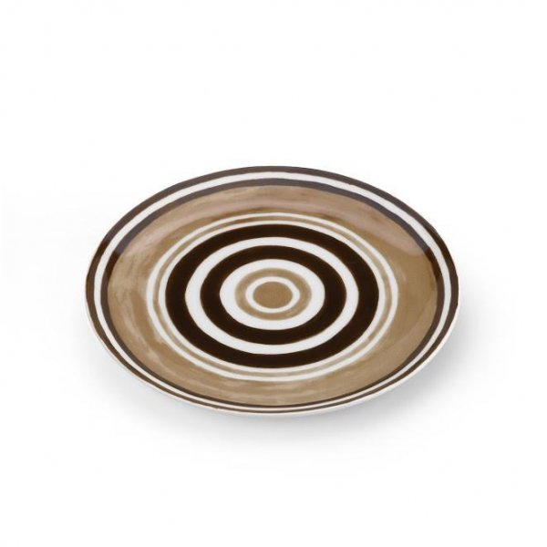 Maze Chocolate Brown Dinner Plate