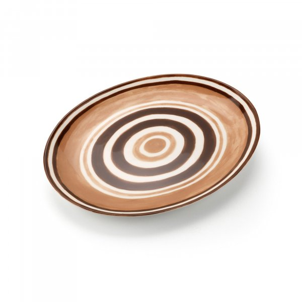 Maze Chocolate Brown Serving Platter
