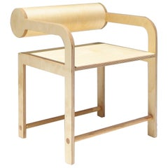 Natural Cylinder Back Arm Chair