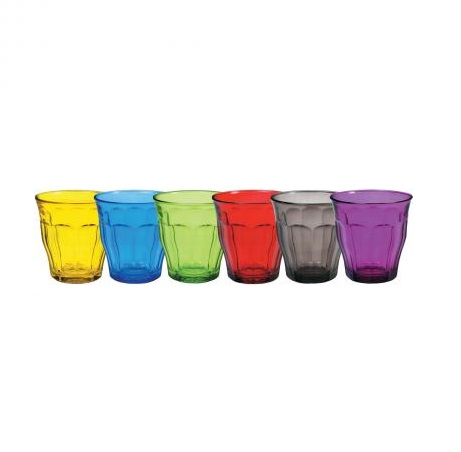 Picardie Colours Mixed Tumbler 25cl, Set of 6