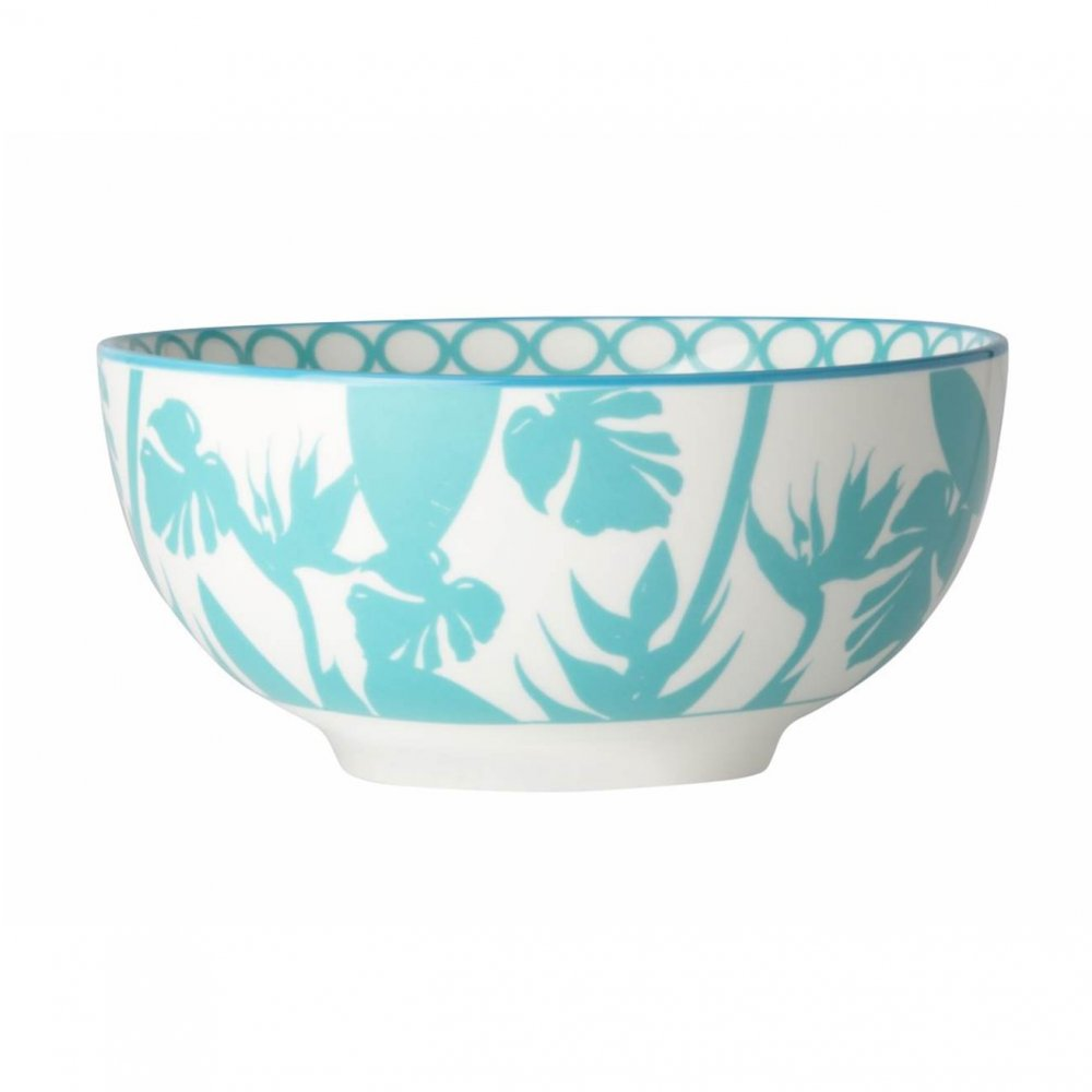 Paradise Media Silhouette Blue Cup, Set of 4