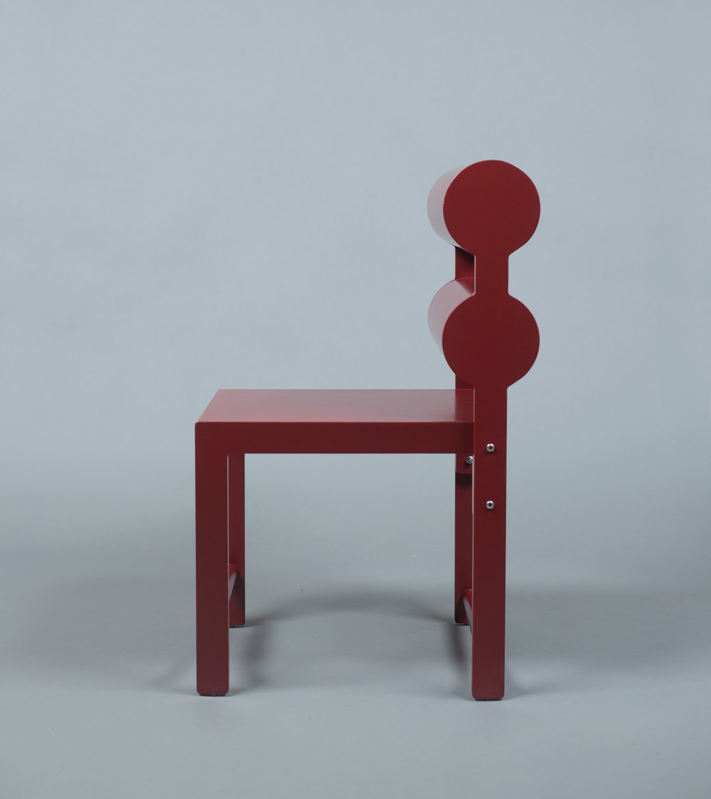 Pompeii Red Double Cylinder Chair