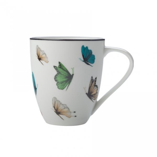 Sanctuary Butterflies Mug 500ml, Set of 4