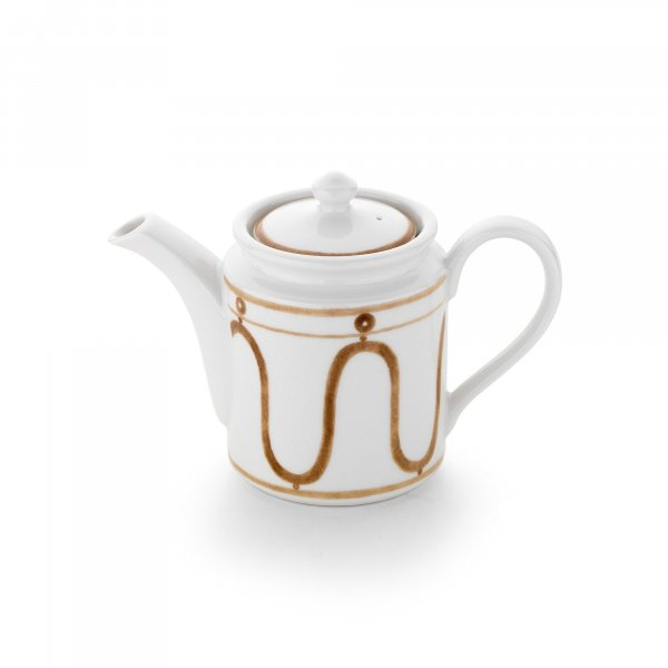 Serenity Beige on White Coffee Pot
