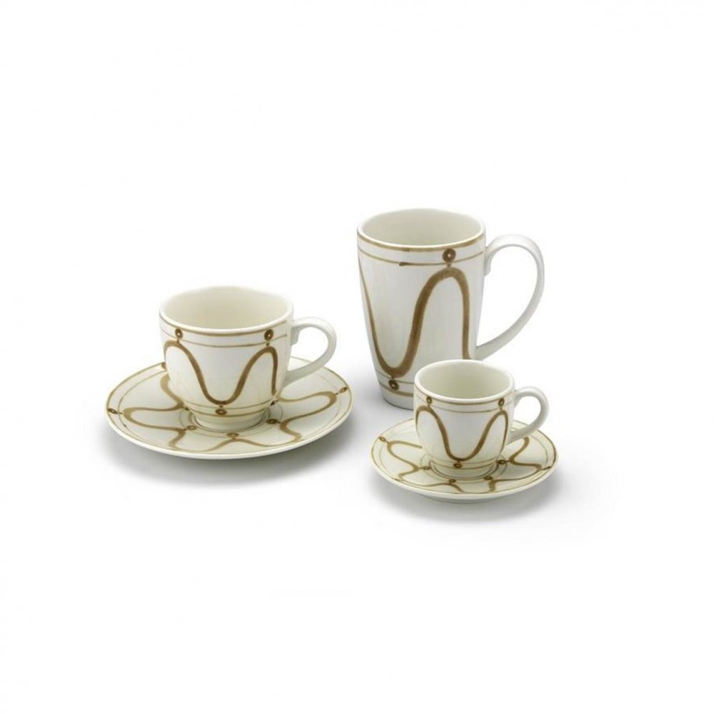 Serenity Beige on White Coffee or Tea Cup